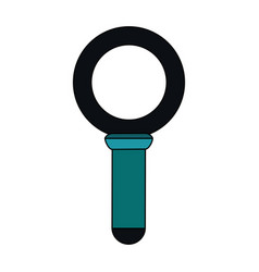 Color image cartoon magnifying glass blue dark vector