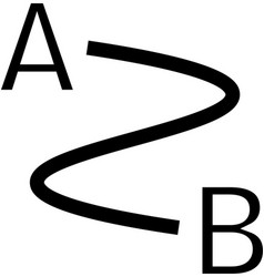 Distance icon vector