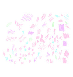 doodle brush sketch pastel color background vector image vector image