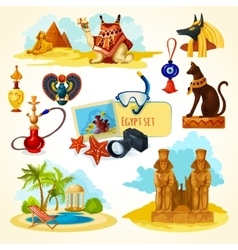 Egypt Touristic Set vector image