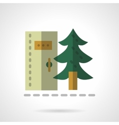 Forest toilet flat color design icon vector