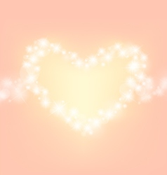 Heart abstrack sparkling frame orange pink backgro vector