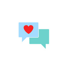 love chat solid icon heart in speech bubble vector image vector image