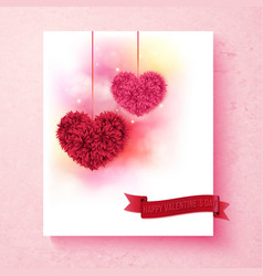 Sentimental Valentine card design with hearts vector image vector image