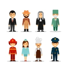 set of different people professions vector image vector image