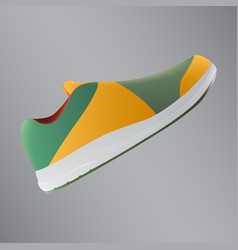 shoes design running shoes yellow and green vector image