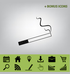 Smoke icon great for any use black icon vector