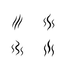 smoke stream aroma icon smell set vector image