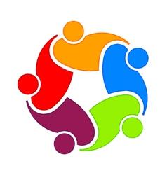 Social community 5 Logo vector image