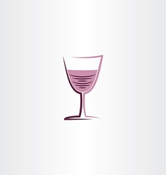 Stylized wine glass rose icon vector