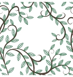 tree branches and leaves vector image