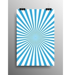 Vertical poster blue shining sun-rays rays vector
