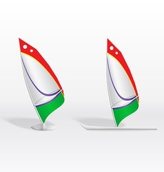 Windsurf on white background vector image vector image