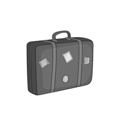 Travel suitcase icon black monochrome style vector image