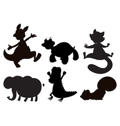 Animals in brown black and gray colors vector