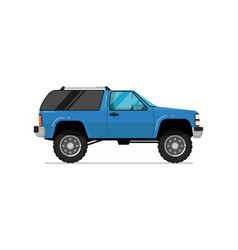 Off road truck isolated icon vector