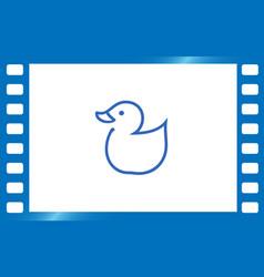 Web line icon rubber duck vector