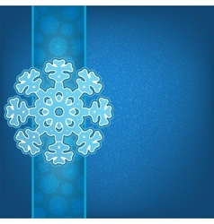 Christmas background and snowflakes EPS8 vector image