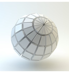 3D Sphere vector image vector image