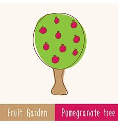 Single garden fruit tree vector