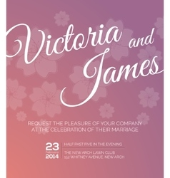 Save the date wedding invitation vector