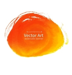 Orange hand drawn stain vector