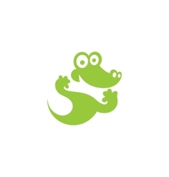 Green Crocodile icon vector image