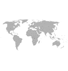 Political world map on white background vector