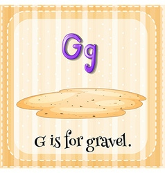 Flashcard alphabet G is for gravel vector image