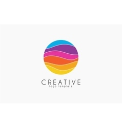 Creative logo colorful logo geometric icon vector