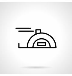 Meter tape black line icon vector