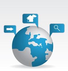 Globe map blue vector image