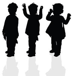 Child set silhouette vector