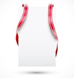 Blank tag with ribbon vector image