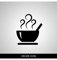 Soup icon isolated on white background vector