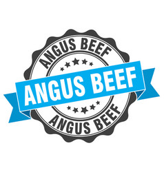 Angus beef stamp sign seal vector