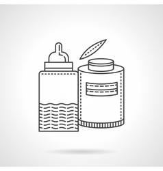 Baby menu thin line design icon vector image