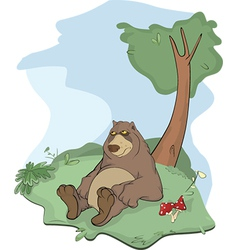 Bear on a glade vector image