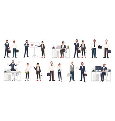 big collection of business people or office vector image vector image