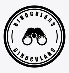 binoculars design vector image