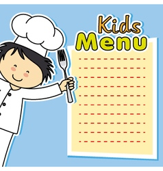 Boy chef card vector