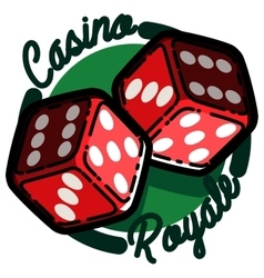 Color vintage casino emblem vector image vector image