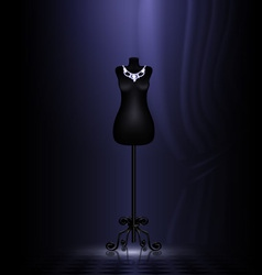 craft dummy in a black room vector image vector image