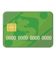 Credit card icon cartoon style vector image