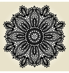 Delicate lace doily pattern vector