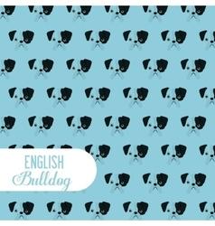 English bulldog design vector