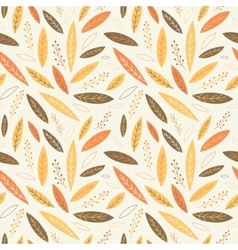Falling autumn leaves seamless pattern vector