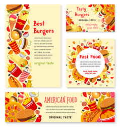 fast food restaurant banner and poster template vector image
