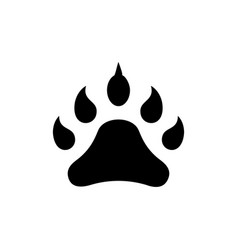 footprint animal icon black vector image vector image