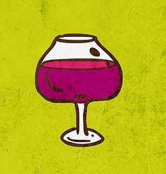 Glass of wine cartoon vector
